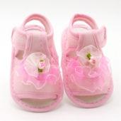 062 Sandálky růžové s tylovou kytičkou - 89,-