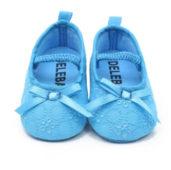 079 Balerínky látkové zářivě modré vyšívané - 99,-