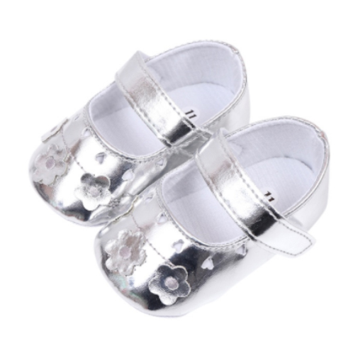 081 Balerínky stříbrné s kytičkami - 99,-