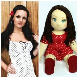 Ručně šitá terapeutická panenka jako dárek k vánocům, narozeninám i svátku