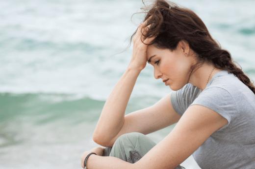 Žena v depresi a smutek, úzkost