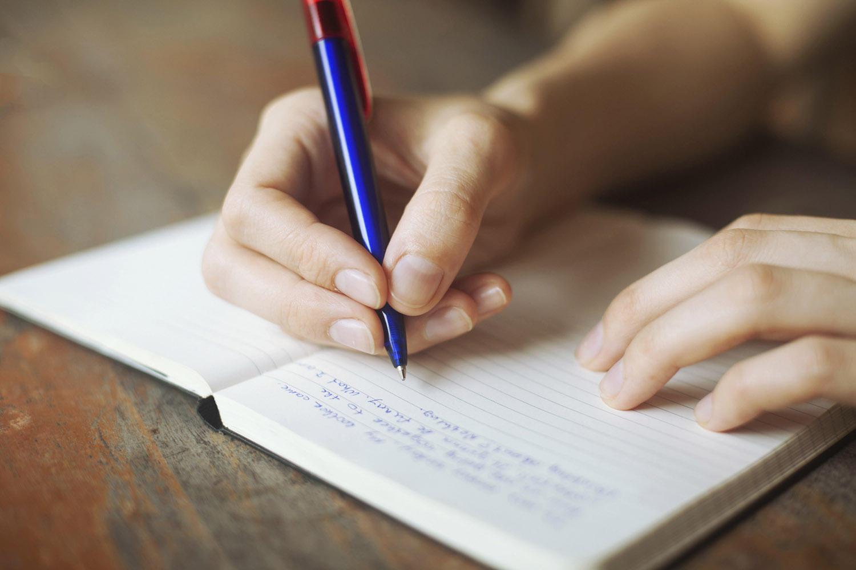 deník, psaní deníků, vypsat se z problémů