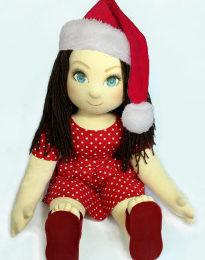 Ručně šitá terapeutická panenka jako dárek na vánoce, narozeniny, svátek