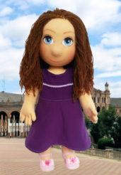 Ručně šitá terapeutická panenka pro ženy, děti i seniory