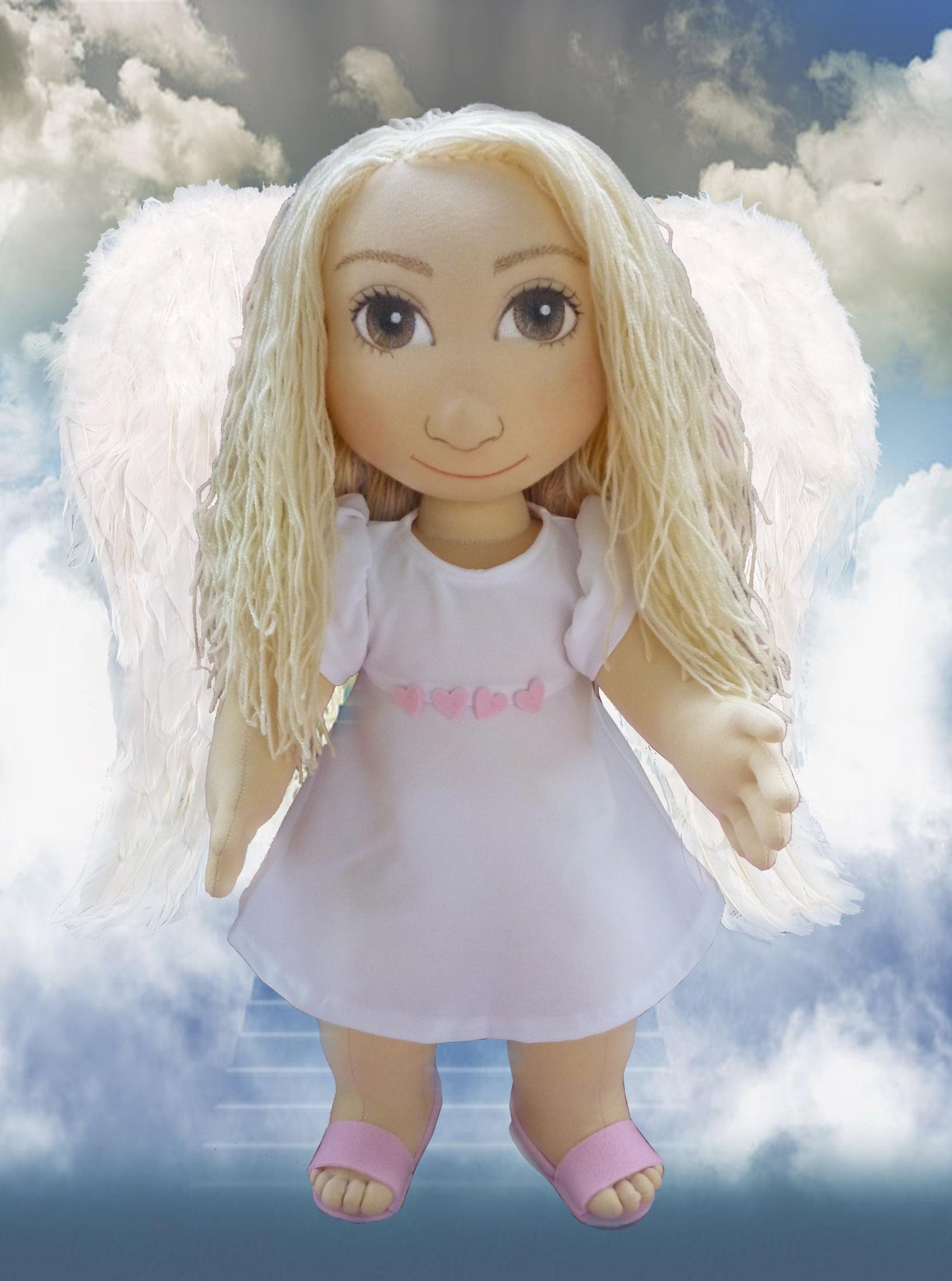 Ručně šitá terapeutická panenka je ideální jako hračka pro děti, ale jako pomůcka pro seniory.