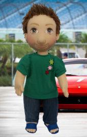 Ručně šitá terapeutická panenka jako hračka pro děti