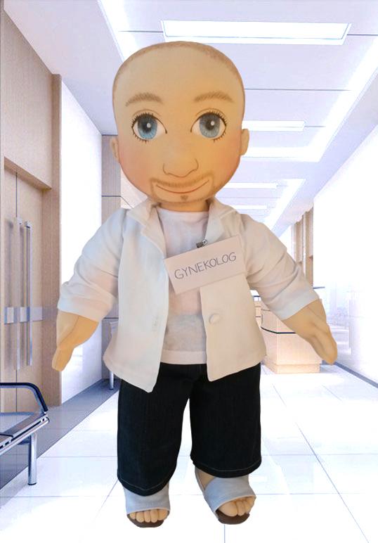Ručně šitá terapeutická panenka - pomůcka pro seniory