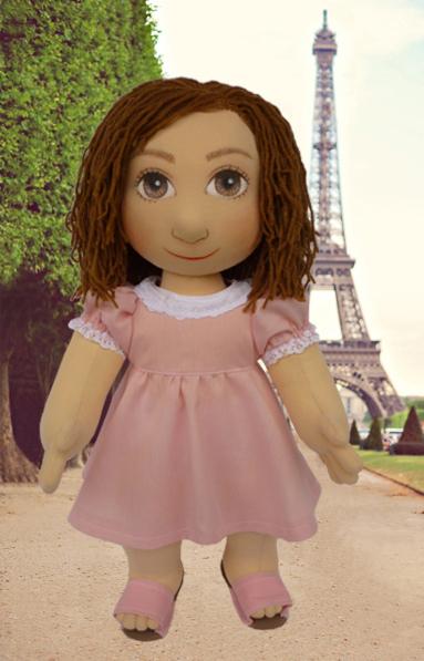 Ručně šitá panenka je ideální dárek na vánoce, narozeniny, svátek